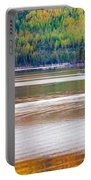 Sunset Reflections On Boreal Forest Lake In Yukon Portable Battery Charger