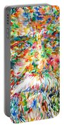 Tagore - Watercolor Portrait Portable Battery Charger