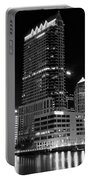 Tampa Black And White  Portable Battery Charger