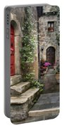 Tarquinia Red Door Impasto Portable Battery Charger