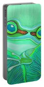Teal Frog Portable Battery Charger