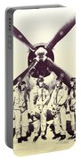 Test Pilots With P-47 Thunderbolt Fighter Portable Battery Charger