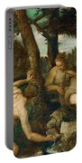 Adam And Eve After The Expulsion From Paradise Portable Battery Charger