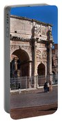 The Arch Of Constantine And Colosseum Portable Battery Charger
