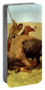 The Buffalo Hunt Portable Battery Charger by Frederic Remington