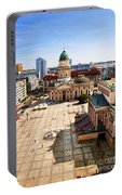 The Gendarmenmarkt And German Cathedral In Berlin Portable Battery Charger