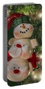 The Happy Snowman Portable Battery Charger