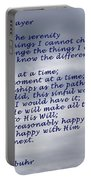The Serenity Prayer Portable Battery Charger