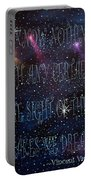 The Sight Of The Stars Makes Me Dream Portable Battery Charger