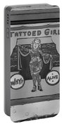The Tattoed Girl In Black And White Portable Battery Charger