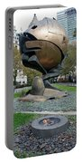 The W T C Plaza Fountain Sphere Portable Battery Charger