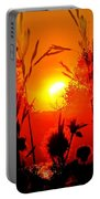 Thistles In The Sunset Portable Battery Charger