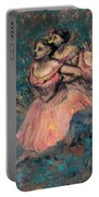 Three Dancers In Red Costume Portable Battery Charger