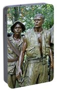 Three Soldiers Statue Portable Battery Charger