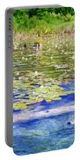Torch River Water Lilies Portable Battery Charger