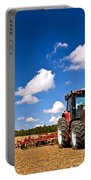 Tractor In Plowed Field Portable Battery Charger