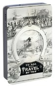 Travel Poster, C1882 Portable Battery Charger