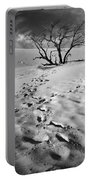 Tree Branch And Footprints On Sleeping Bear Dunes Portable Battery Charger