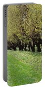 Trees Along A Walkway In A Botanical Portable Battery Charger