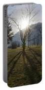 Trees In Backlit Portable Battery Charger