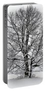Trees In Winter Portable Battery Charger