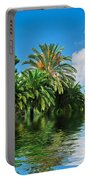 Tropical Exotic Jungle And Water Portable Battery Charger