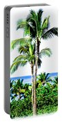 Tropical Palm Trees Portable Battery Charger