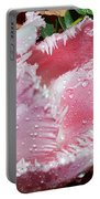 Tulip Lace Portable Battery Charger by Felicia Tica