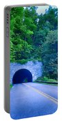Tunnel Through Mountains On Blue Ridge Parkway In The Morning Portable Battery Charger