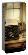 Typewriter And Whiskey Portable Battery Charger