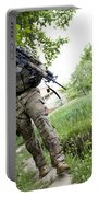U.s. Army Specialist Walks Portable Battery Charger