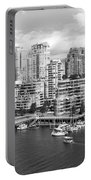 Vancouver Bc Downtown Skyline At False Creek Canada Portable Battery Charger