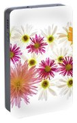 Variety Of Flowers Against White Portable Battery Charger