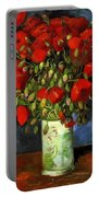 Vase With Red Poppies Portable Battery Charger