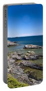 View Of Rock Harbor And Lake Superior Isle Royale National Park Portable Battery Charger