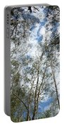 View Of Towering Trees Portable Battery Charger