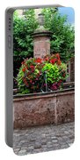 Village Fountain In Provence Portable Battery Charger