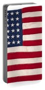 Vintage American Flag Portable Battery Charger