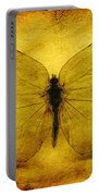 Vintage Grunge Butterfly Portable Battery Charger