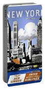 Vintage New York Travel Poster Portable Battery Charger
