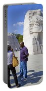 Visitors At The Martin Luther King Jr Memorial Portable Battery Charger