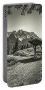 walking in the Alps - bw Portable Battery Charger