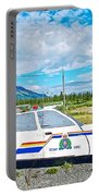 Watch Out For The Rcmp Near Destruction Bay In Yukon-canada Portable Battery Charger