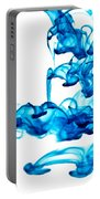 Water Trails - Two Blue Drops - Square Version Portable Battery Charger