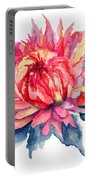 Watercolor Illustration With Beautiful Flowers  Portable Battery Charger
