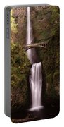Waterfall In A Forest, Multnomah Falls Portable Battery Charger