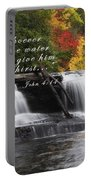 Waterfall With Scripture Portable Battery Charger