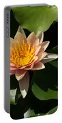 Exotic Colors - A Soft Coral Waterlily Portable Battery Charger
