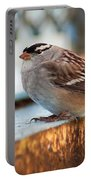 White Crowned Sparrow Portable Battery Charger
