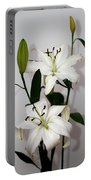 White Lily Spray Portable Battery Charger